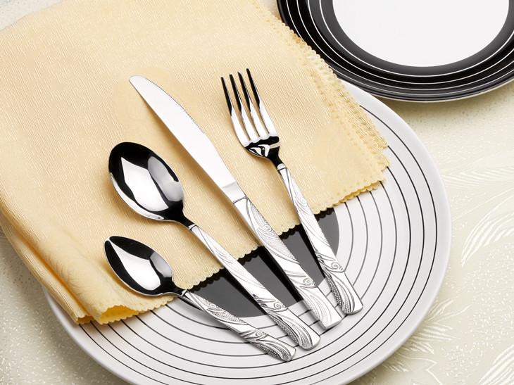 TS0918 24 pcs stainless steel Mirror Polish flatware Cutlery ...