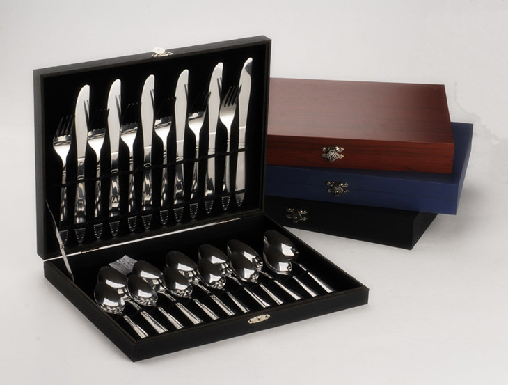Wood Box TS1010 24 pcs stainless steel flatware Cutlery Tableware ...